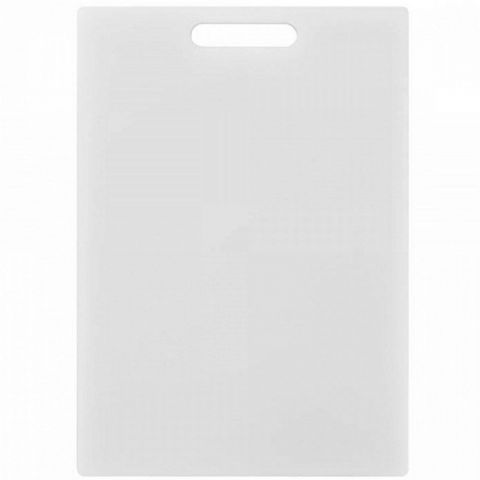 Chef's Thick Large 35cm White Plastic Chopping Cutting Board